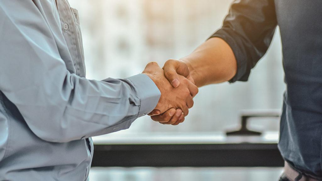 Businessman Shake hands success business project,People handshak